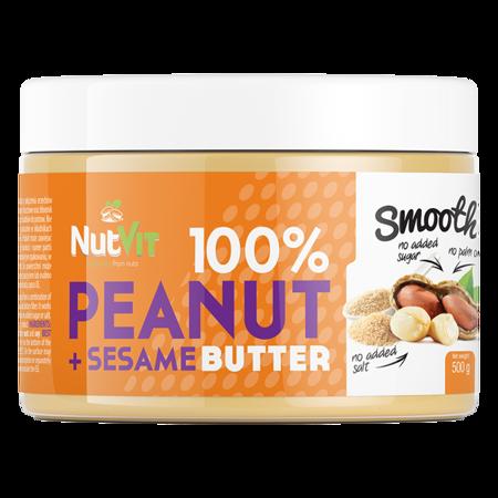 NutVit 100% Peanut + Sesame Butter 500 g DATA 10,2020